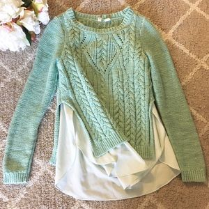 🆕🍃🌸{Anthropologie}: Moth Seagreen Sweater🌸🍃